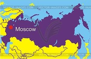 Карта России - векторный клипарт