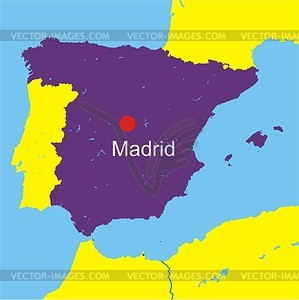 Spain map - vector clipart. ›