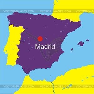 Karte von Spanien - Vektorgrafik
