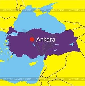 Karte von Türkei - vektorisierte Abbildung