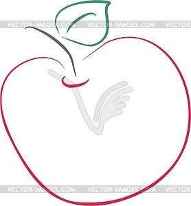 Apfel, Übersicht - Vektorgrafik