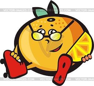 Roller Mandarine - Vektorgrafik