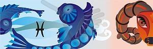 Fische - Vektor-Clipart EPS