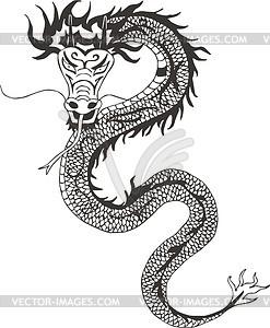 Chinesischer Drache - Vector Clip Art