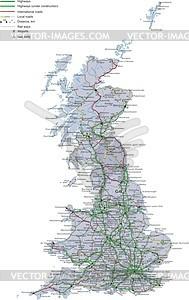 Fahrplan von Großbritannien - Vektorgrafik