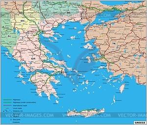 Fahrplan Griechenlands - Vektorgrafik