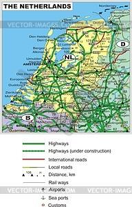 Fahrplan von Niederlande - Vektorgrafik