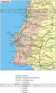 Fahrplan von Portugal - Vektorgrafik