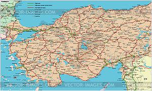 Fahrplan von Türkei - Vektorgrafik