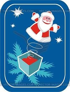 Weihnachtsmann - farbige Vektorgrafik