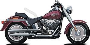 Harley-Davidson Fat Boy - Vektorgrafik