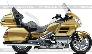 Motorcycle Honda Gold Wing - vector clipart