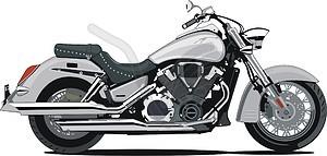 Motorrad Honda VTX1800S1 Metallic Silver - Vektorgrafik