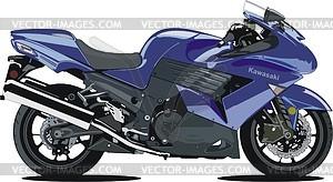 Motorrad Kawasaki ZX14 - Vektorgrafik