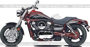 Motorrad Kawasaki Vulcan 1600 Mean Streak - Vektorgrafik