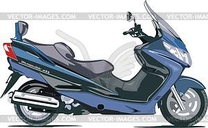 Motorrad Suzuki AN400BK5 - Vektorgrafik