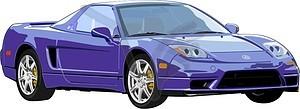 Acura NSX - Vektorgrafik