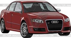 Audi RS4 - Vektorgrafik