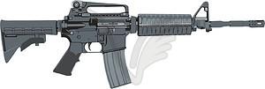 Gewehr Colt M4 Carbine - Vektorgrafik