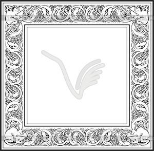 Frosch Rahmen - Vektorgrafik