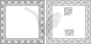 Schlangekopf Rahmen - Vektorgrafik
