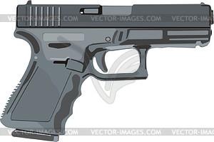 Pistole Glock 19 - Vektorgrafik