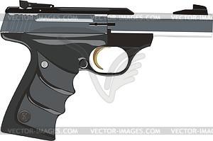 Pistole Long Gewehr 22 Buckmark - Vektorgrafik