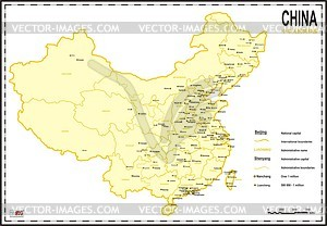 Karte von China - Vektor-Bild