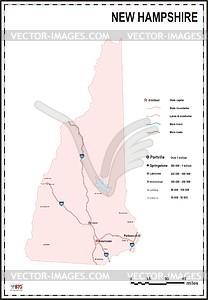 Karte von New Hampshire - Vektorgrafik