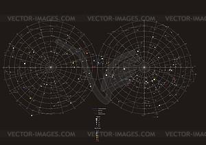 Sternkarte - Vektorgrafik