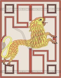 Löwe - Symbol von Markus Evangelist (Ev. von Echternach) - Vektor-Design