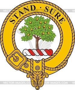 Anderson clan crest badge - vector clipart