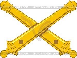 Gekreuzte Kanonen - Vektorgrafik