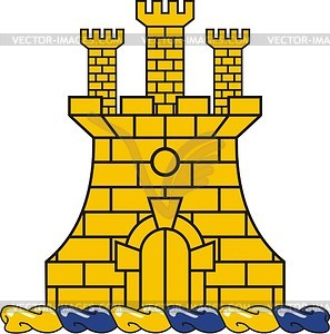 Helmkleinod mit Schloss - Vektor-Design