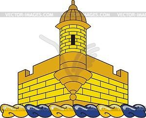 Helmkleinod mit Schloss - Vektor-Bild