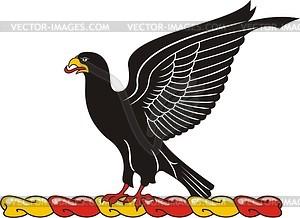 Helmkleinod mit schwarzem Adler - Vektorgrafik