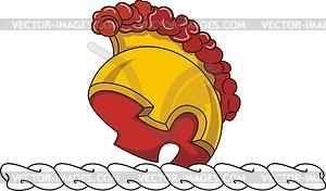 Helmkleinod mit dem Helm des römischen Legionärs - Vektor-Klipart