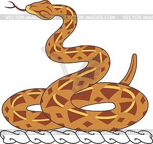 Helmkleinod mit Schlange - Vektorgrafik