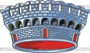 Italienische kommunale Rangkrone - Vektorgrafik