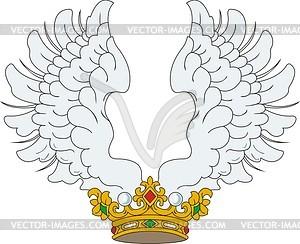 Heraldische Rangkrone mit Flügeln - Vektorgrafik