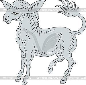 Heraldischer Esel - Vektorgrafik