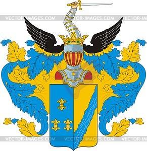 Grjasnov, Familienwappen - Vektorgrafik