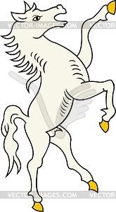 Schildhalter Pferd - Vektorgrafik