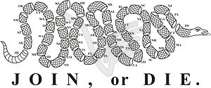 Join or die 50 parts snake vector clipart for Join or die tattoo