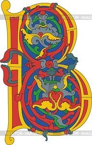 Gotischer Buchstabe B - Vektorgrafik