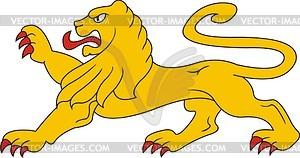 Heraldischer Löwe - Stock-Clipart