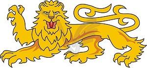 Heraldischer Löwe - Stock Vektorgrafik