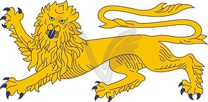 Heraldischer Löwe - Stock Vektor-Bild