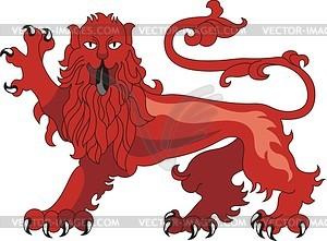 Heraldischer Löwe - Royalty-Free Vektor-Clipart