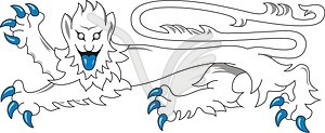 Heraldischer Löwe - Vektor-Skizze